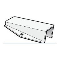 Platine instruments 100x40, pour tête de mât inclinée à 15°
