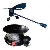 Elément tête de mât pour girouette (avec câble 30m) Raymarine