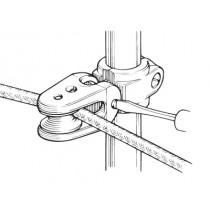 Poulie de pied de chandelier Selden, orientable en composite