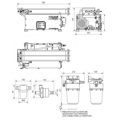 Dessalinisateur Aqua-Base XD121 30l/h 12V