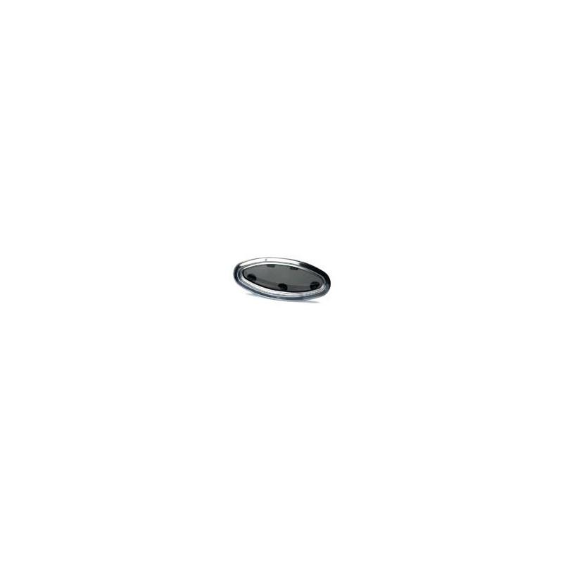 Hublot elliptique ouvrant - cadre int. inox - 450x195x16