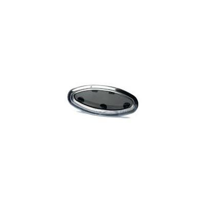 Hublot elliptique ouvrant Rutgerson - Cadre inox - 450x195mm