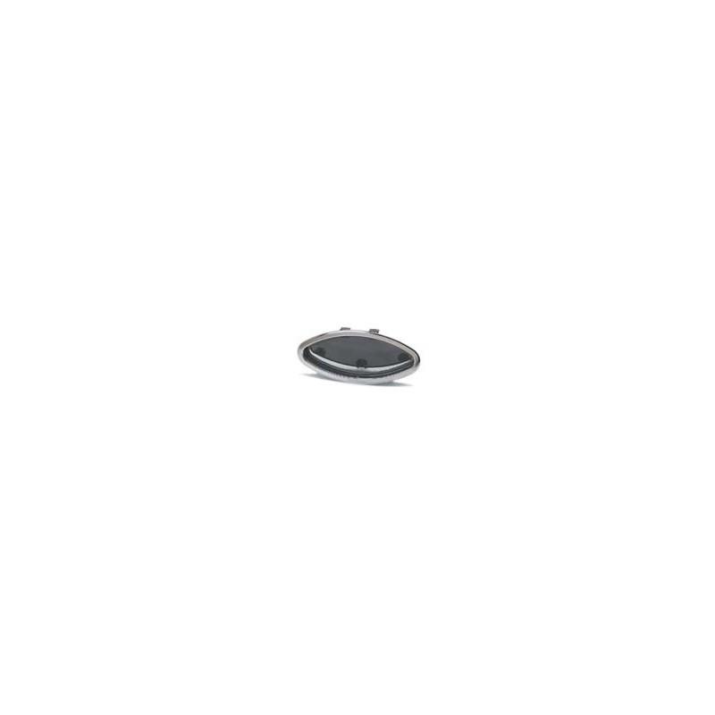 Hublot elliptique ouvrant - cadre int. blanc - 485x225x26