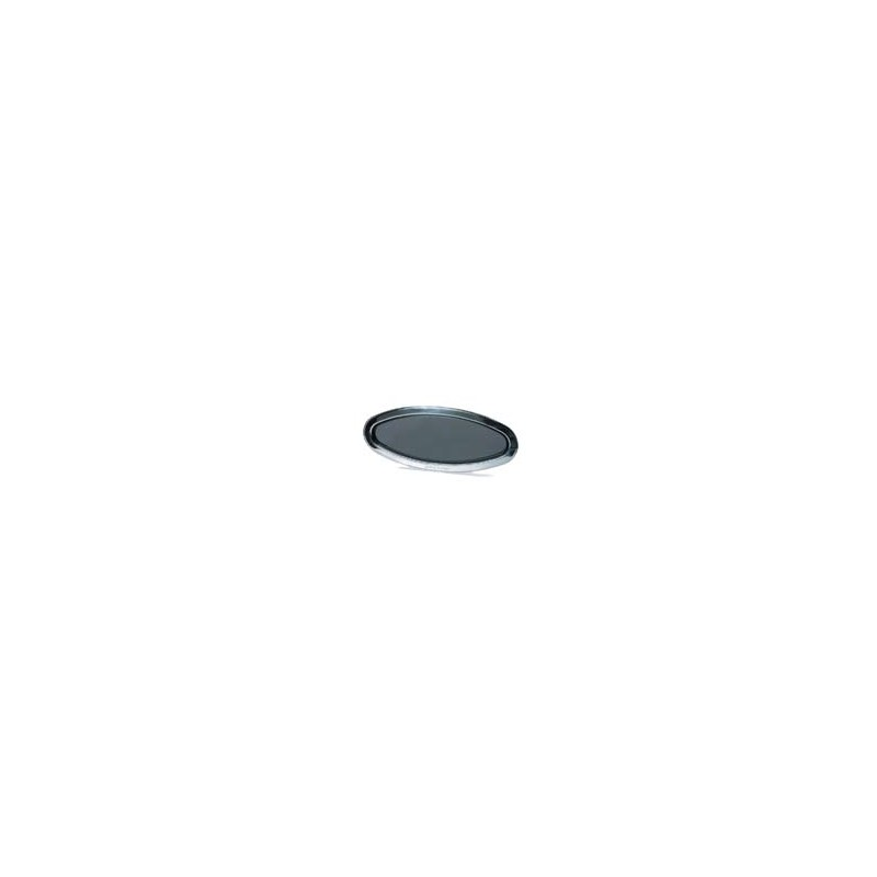 Hublot elliptique fixe - cadre int. inox - 485x225x27