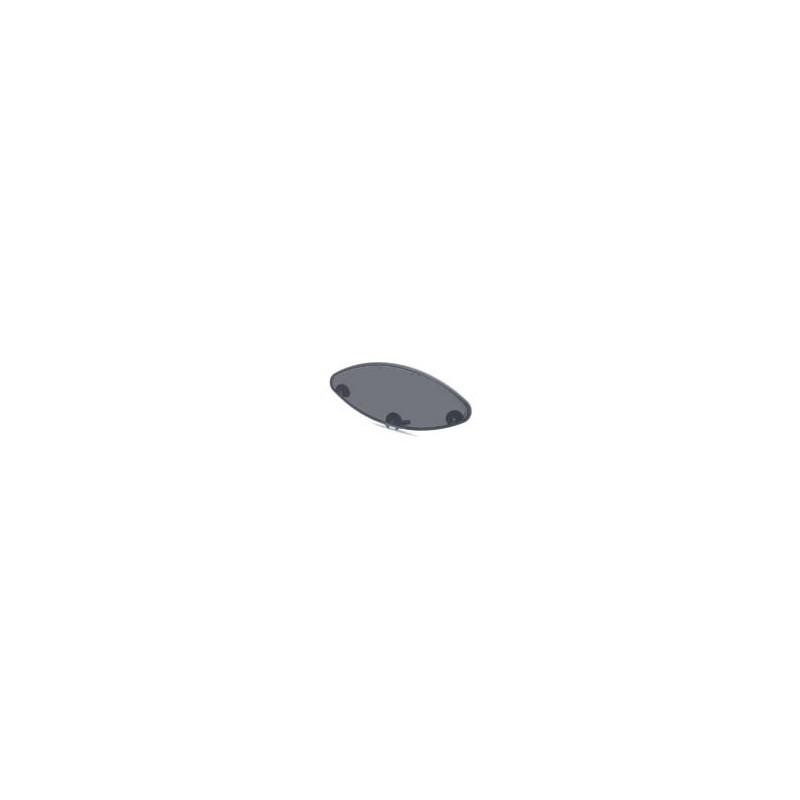 Vitre teintée de hublot elliptique 395x140x15, avec joint