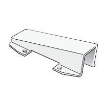 Platine instruments 180x65mm, Pour tête de mât inclinée à 15°