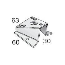 Base pour feu tricolore et de mouillage 60x30x63, pour tête de mât inclinée à 15°
