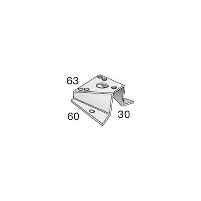 Base pour feu tricolore et de mouillage 60x30x63, pour tête de mât inclinée à 15° Selden