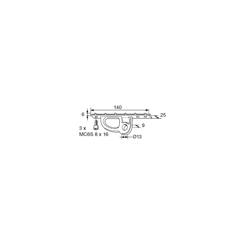 Ferrure de Bôme SELDEN pour Rodkicker Type 05/10/20 - B120/62 à B171/94