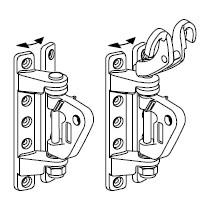 Ferrure de bôme universelle pour ris classique (avec crocs) 135/71-143/76-152/82-171/94