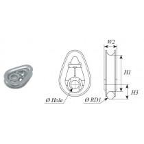 Kit cosse pour cordage anti torsion CX25 SELDEN