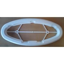 Kit cadre intérieur blanc pour hublot elliptique ouvrant 485x225
