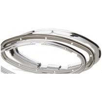 Kit cadre intérieur blanc pour hublot elliptique ouvrant 450x195