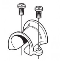 Guide-drisse simple en bronze chromé SELDEN - Vendu par 2