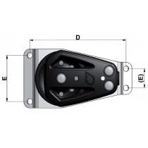 Poulie plat-pont sur platine plate RUTGERSON 50mm