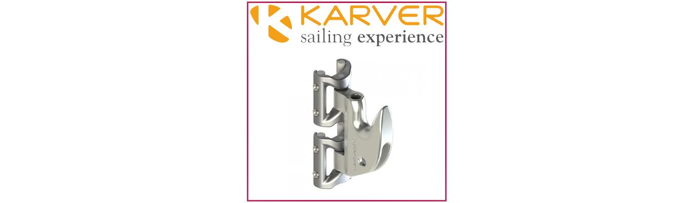 Têtière de grand voile à corne Karver - Mainsail Hook System or Gaff Lock Karver